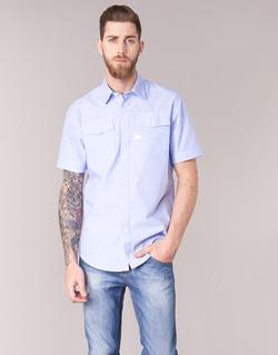 Clothing Men short-sleeved shirts G-Star Raw LANDOH Blue