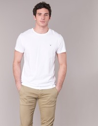Clothing Men Short-sleeved t-shirts Gant THE ORIGINAL T-SHIRT White