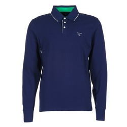 Clothing Men long-sleeved polo shirts Gant 3-COL CONTAST RUGGER Marine