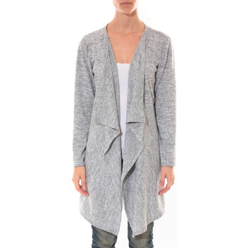 Clothing Women Jackets / Cardigans Barcelona Moda Cardigan Long Fashion Moda Gris Grey