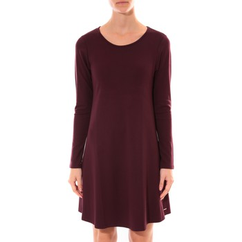 Clothing Women Short Dresses Coquelicot Robe   Col Rond Bordeaux 16202 Red
