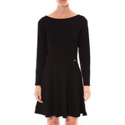Clothing Women Short Dresses Coquelicot Robe  Col V Noir 16201 Black