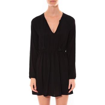 Clothing Women Short Dresses Coquelicot Robe   Col V Noir 16216 Black