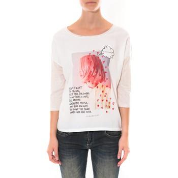 Clothing Women Long sleeved tee-shirts Coquelicot Tee shirt   Blanc 16425 White