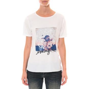 Clothing Women short-sleeved t-shirts Coquelicot Tee shirt   Blanc 16426 White
