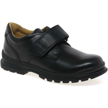 Derby Shoes Geox William Boys Black Leather School Shoes