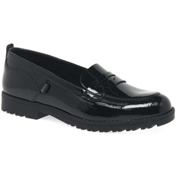 Loafers Kickers Lachly Loafer Senior Girls Black Patent Shoes