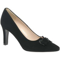 Heels Peter Kaiser Tanja Womens Black Suede Court Shoes