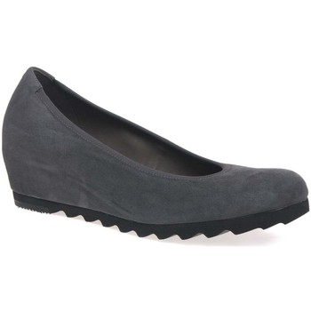 Shoes Women Flat shoes Gabor Request Womens Modern Wedge Court Shoes grey