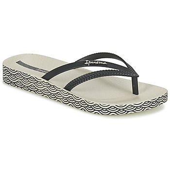 Shoes Women Flip flops Ipanema BOSSA SOFT Black / BEIGE