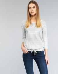 Clothing Women Tops / Blouses Marc O'Polo GRASSIRCO White / Blue