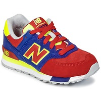 Shoes Children Low top trainers New Balance KL574 Blue / Red