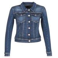 Clothing Women Denim jackets Meltin'pot JUSTINE Blue / Raw