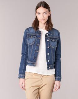 Clothing Women Denim jackets Meltin'pot JUSTINE Blue / Raw