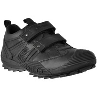 Shoes Boy Low top trainers Geox SAVAGE G Black