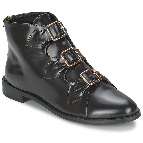Shoes Women Ankle boots F-Troupe Triple Buckle Boot  black