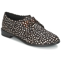 Shoes Women Derby Shoes F-Troupe Bow Polka Black / White