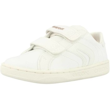 Shoes Girl Low top trainers Geox J MANIA B White