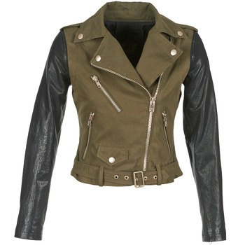 Clothing Women Leather jackets / Imitation leather Diesel L-LUPUS-C  KAKI / Black