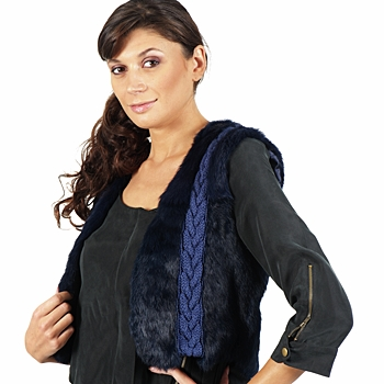 Clothing Women Jackets / Blazers April First GILET SANS MANCHE Blue