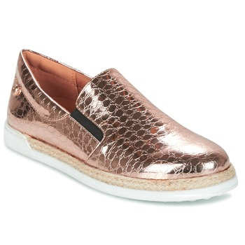 Shoes Women Slip ons Love Moschino JA10353G03 Gold / Pink