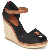 Shoes Women Sandals Tommy Hilfiger ELENA 56D Black / Brown