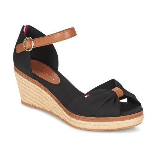 Shoes Women Sandals Tommy Hilfiger ELBA 40D Black / Brown