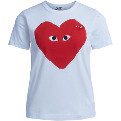 Clothing Women Short-sleeved t-shirts Comme Des Garcons T-shirt  bianca con cuore rosso White