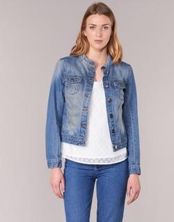Clothing Women Denim jackets DDP DASTIONA Blue / Medium