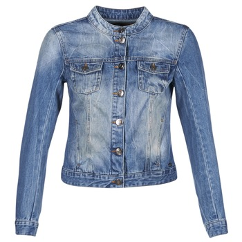 Clothing Women Denim jackets DDP DASTIONA Blue / MEDIUM