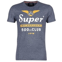 Clothing Men short-sleeved t-shirts Superdry 500 CLUB MOTORRADER Grey