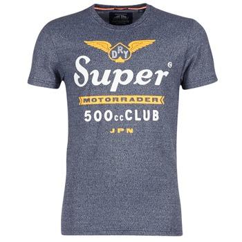 Clothing Men short-sleeved t-shirts Superdry 500 CLUB MOTORRADER Grey