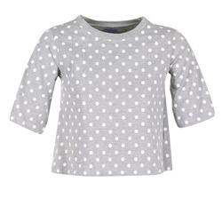 Clothing Women short-sleeved t-shirts Compania Fantastica EPOITATI Grey / White