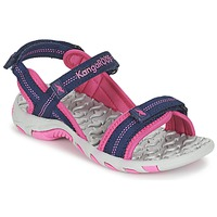 Shoes Girl Outdoor sandals Kangaroos MUSER MARINE / Pink