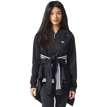 Clothing Women jumpers adidas Originals Couture Superstar Tracktop Black