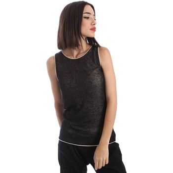 Clothing Women Tops / Sleeveless T-shirts Gazel AB.MA.CN.0007 Canotta Women Black Black