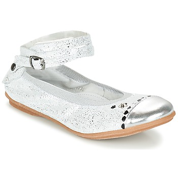 Shoes Girl Flat shoes Ikks EMILY Silver