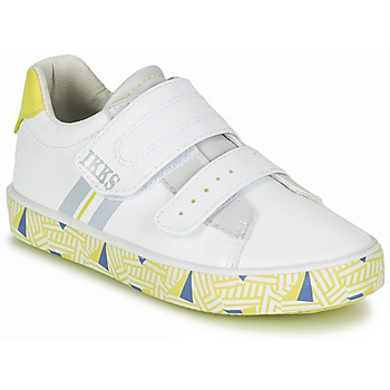 Shoes Boy Low top trainers Ikks JOE White / Yellow