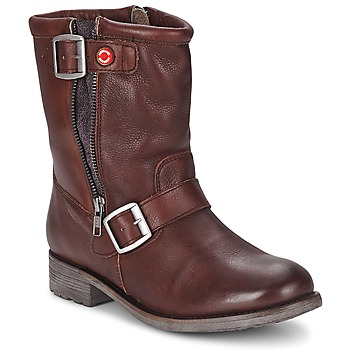 Shoes Women Mid boots Nobrand FISCHERIES Brown