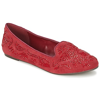 Shoes Women Loafers Moony Mood LUDIA Red
