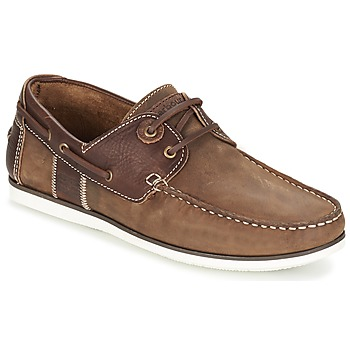 Shoes Men Boat shoes Barbour CAPSTAN Beige / Brown / Leather