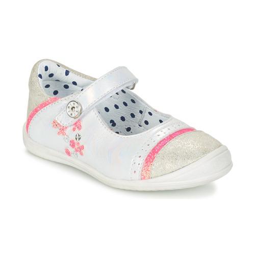 Shoes Girl Flat shoes Catimini PIPISTRELLE Vte / White