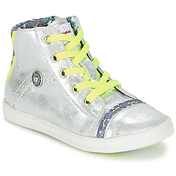 Shoes Girl Hi top trainers Catimini PARULINE Silver