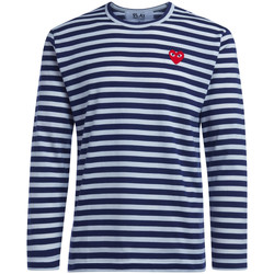 Clothing Men Long sleeved tee-shirts Comme Des Garcons Men's striped  men's t-shirt Blue