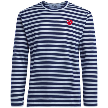Clothing Men Long sleeved tee-shirts Comme Des Garcons T-Shirt  a righe Blue