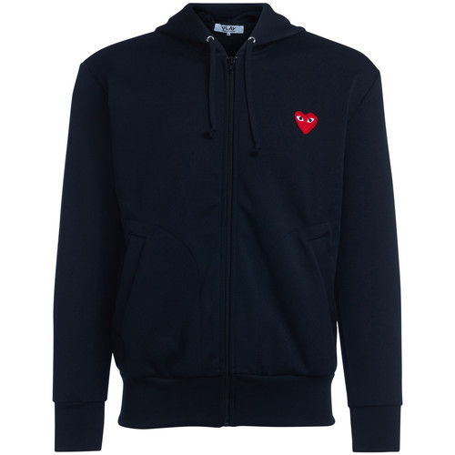 Clothing Men sweaters Comme Des Garcons Felpa  nera con cappuccio e cuore Black