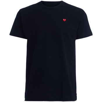 Clothing Men short-sleeved t-shirts Comme Des Garcons T-Shirt  nera cuore rosso Black