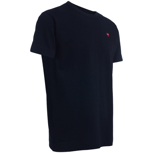 .co.uk  men's T-shirt black red heart  Comme Des Garcons  short-sleeved t-shirts  men  black