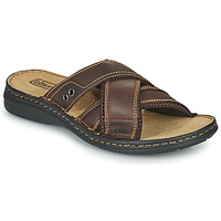 Shoes Men Flip flops TBS BENAIX Brown