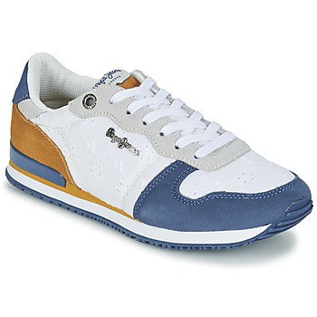 Shoes Women Low top trainers Pepe jeans GABLE ANGLAISE SOUL White